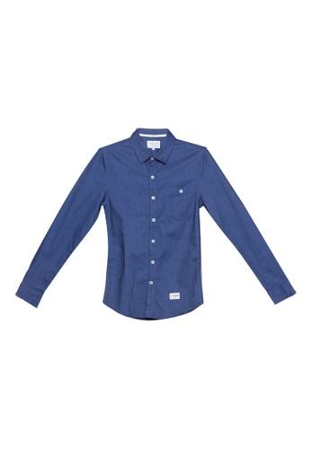 High Cultured 藍色 Long Sleeve Shirt - 224 47F76AA53BBBABGS_1