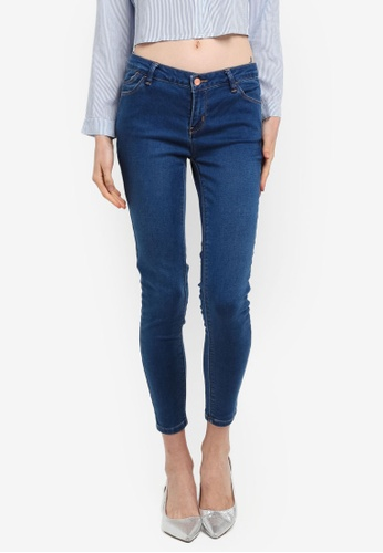 Penshoppe blue Mid Waist Jeans In Medium Wash 82ACDAA57A4573GS_1