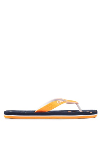 Superdry orange and navy Scuba Faded Flip Flops 805A4SH6750B5DGS_1