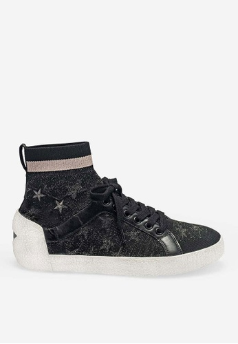 ASH black Ninja Star - Black Star elements High-Top Sneakers C8586SH95A37A6GS_1