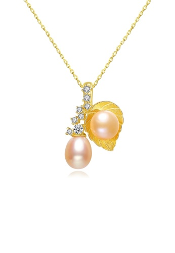 A.Excellence pink Premium Pink Pearl Elegant Necklace 1030FAC0B235DEGS_1