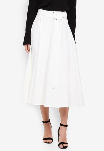 Haute Kelly white Bit-Na Skirt AC266AAEDEB0F0GS_1