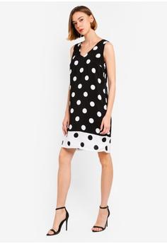 4ea7ae297c18 10% OFF Wallis Black Polka Dot Print Shift Dress RM 269.00 NOW RM 241.90  Sizes 8 10 12 14 16