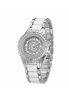 JN-01680 Female Ceramic Jewel-encrusted Watch
