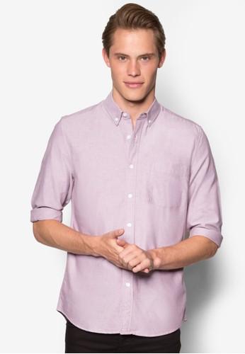 簡約牛津長袖襯衫, esprit hk store服飾, 服飾