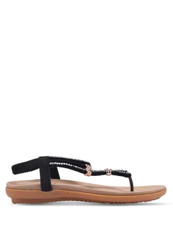 Mimosa black Embellished Sandals 30CFDSH9C460D8GS_1