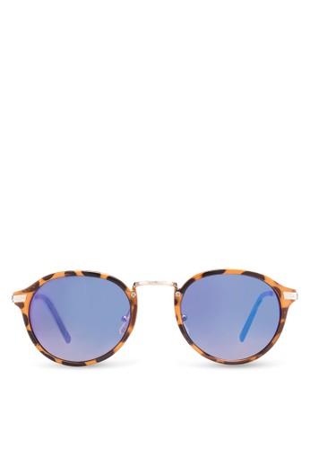 Casper 橘色/藍色 Revo Round 太陽眼esprit 台北鏡, 飾品配件, 飾品配件