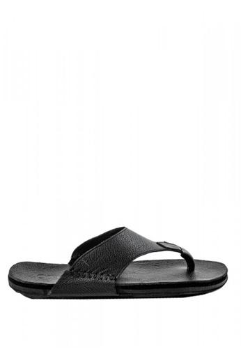 Otto black Solid Tone Slide Sandals 8F879SH448E6D0GS_1
