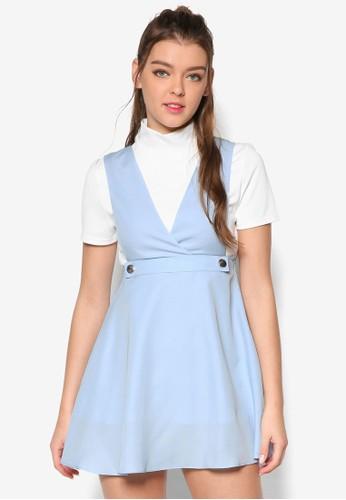 低胸esprit hk分店傘擺吊帶洋裝, 服飾, 洋裝