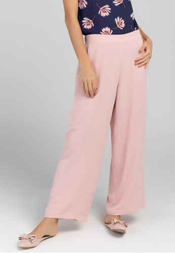 Paperdolls pink Paperdolls Khloe  Straight Pants with  Side Pocket 6E782AA99B24C3GS_1