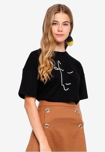 ESPRIT black Graphic Short Sleeve T-Shirt 9A228AAFB79DF0GS_1