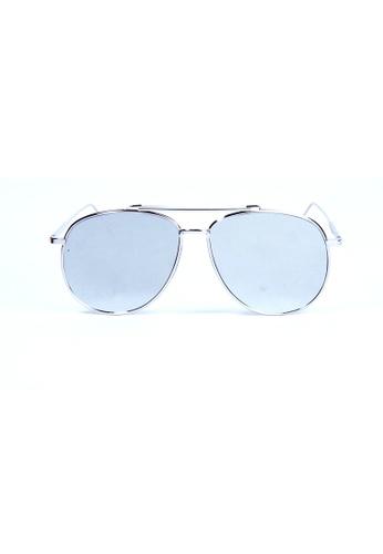 Kyfer's Eyewear & Essentials silver Vintage Bar Top Aviator II KY376AC75JZSSG_1