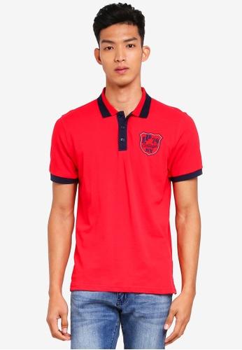 Marc & Giselle red Embroidered Polo Shirt 0E0E3AA3FF1FD2GS_1