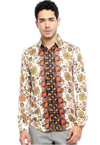 Flike Batik multi Kemeja Batik Tangan Panjang Motif Gandastari 24956AAC842D51GS_1
