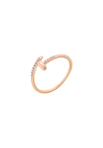 Atrireal gold ATRIREAL - Ave Nail Ring in Rose Gold 849A7AC1CCA4ACGS_1