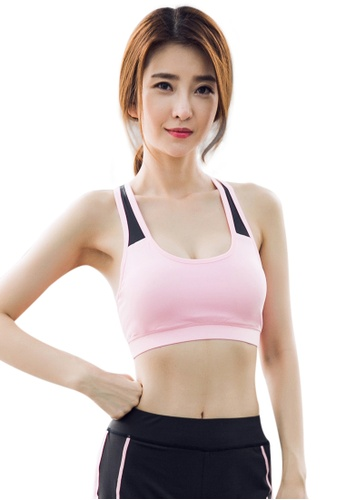 YG Fitness black and pink Sexy Quick-Drying Running Fitness Yoga Bra 7DBD6US00C15D2GS_1