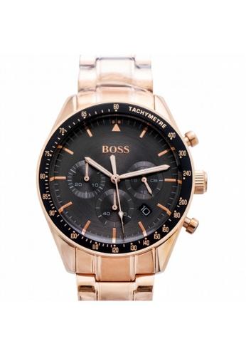 Hugo Boss [NEW] Hugo Boss Hugo Boss Men's Chronograph Quartz Watch with Rose Gold Strap Watch 44MM HB1513632 ECAB3AC9BB9393GS_1