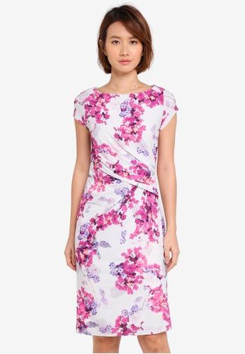 Dorothy Perkins grey Hibiscus Print Bodycon Dress 3EA60AA7BF161FGS_1
