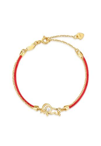 SUNSET gold Premium 925 Sliver Pearl Bracelet 655BAACAD21A4FGS_1