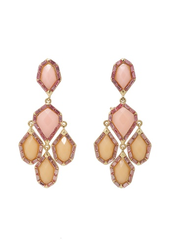 Jaysa Collection pink Avant Garde Resin Jewels Dangle Earrings JA875AC0EZFLSG_1