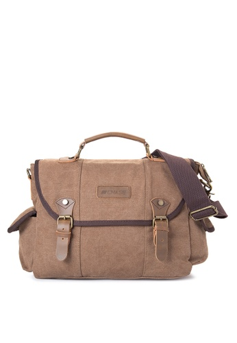 Chase Fashion brown Atom Canvas Messenger Bag CH547AC37UYCPH_1