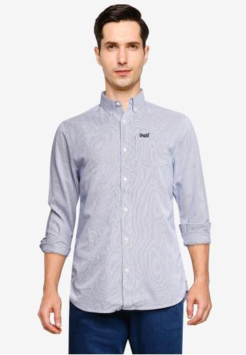 SUPERDRY blue Long Sleeve Classic University Oxford Shirt 86420AA7F69656GS_1