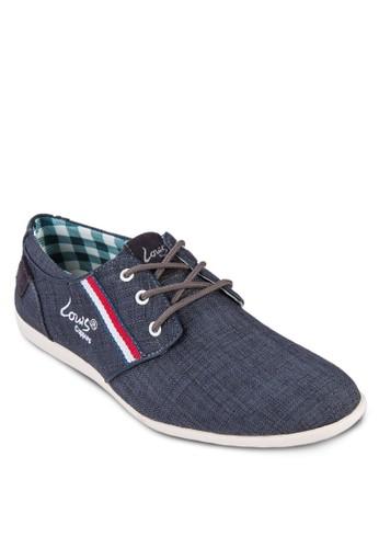 條紋邊飾繫帶休閒鞋esprit outlet hong kong, 鞋, 鞋