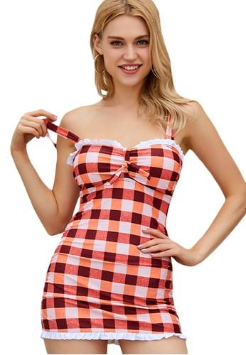 LYCKA red LAX3050-European Style Lady Bikini Set-Red 8D5F3US9D0CD9FGS_1