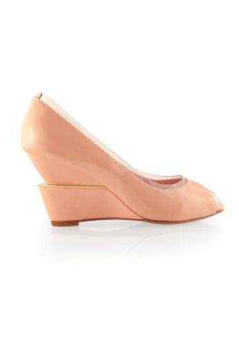 Gripz pink Plastic Peep Toe Calf Patent Wedges 28229SH32416EFGS_1
