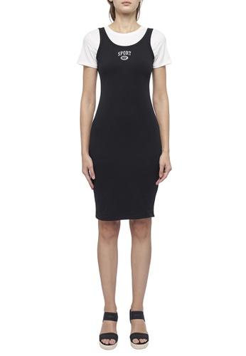 DKNY black DKNY Women Layered Short-Sleeved Logo Dress 41884AA088182EGS_1