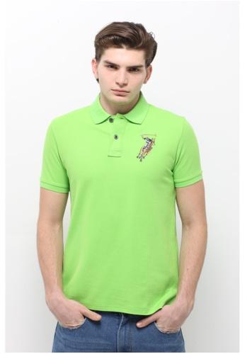 POLO HAUS green Polo Haus - Collar Knit Tee (Green) PO783SE80LMHMY_1