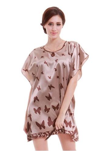 SMROCCO brown Butterfly Nightie Sleepwear Dress L7037 SM066US64WILMY_1