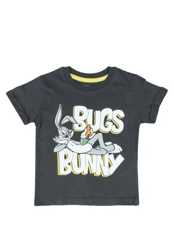 FOX Kids & Baby grey Baby Boys Bugs Bunny Print Tee F0420KACD9589BGS_1