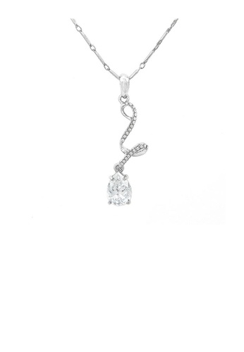 Glamorousky silver Elegant Water Drop Necklace with Silver Austrian Element Crystal A94BAAC59AEF70GS_1