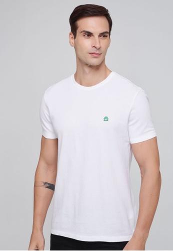 United Colors of Benetton white Basic T-shirt A5C9EAA90E89E2GS_1