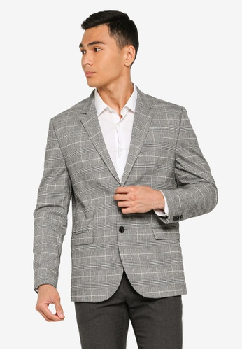 H&M grey Skinny Fit Jacket CD988AA0D054E2GS_1