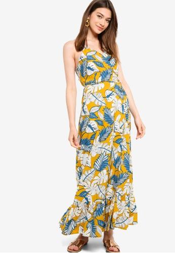 Something Borrowed yellow Wrap Camisole Maxi Dress B74EDAAB7CB0F2GS_1