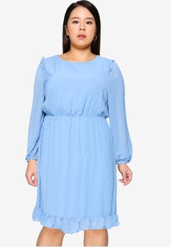 Only CARMAKOMA blue Plus Size Malone Dress 4A7ABAACC000C1GS_1