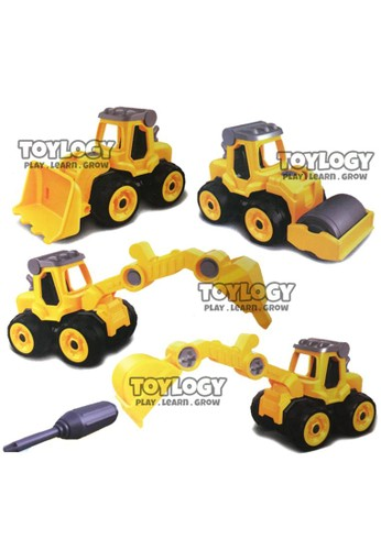 Toylogy multi Mainan Anak DIY Assemble Construction Tractor Rakit Traktor Konstruksi 057A3TH61CC3B2GS_1