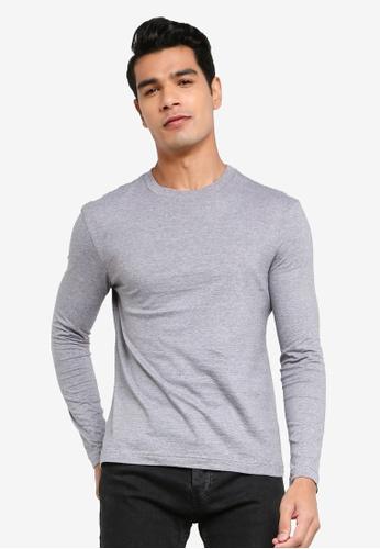H&M grey Jersey Top Regular Fit EAEF5AA6189545GS_1