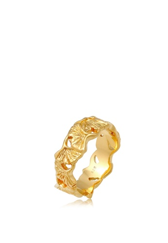 ELLI GERMANY gold Elli Germany Ring Ginkgo Leaves Delicate Floral in 925 Sterling Silver Gold Plated 68C8EAC8E0E191GS_1
