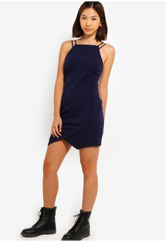 a1d0b0cafc106 45% OFF Something Borrowed Strappy Bodycon Mini Dress S$ 29.90 NOW S$ 16.40  Sizes XS M L XL