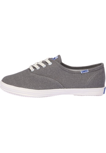 paperplanes grey SN-111 Women Fashion Casual Lace Up Canvas Sneakers Shoes PA110SH56OZRHK_1