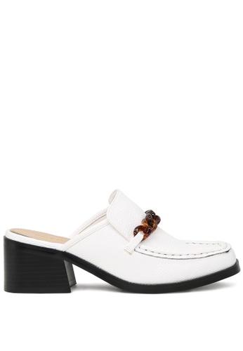 RAG & CO 白色 白色高跟拖鞋 SH1730 E891ESHD6C681EGS_1