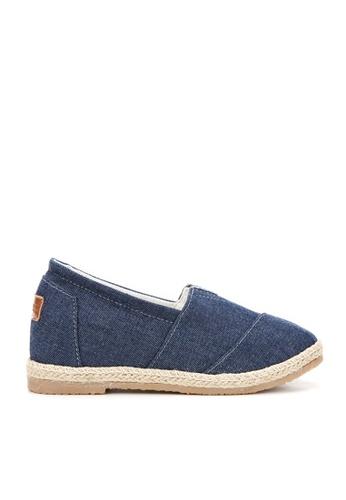 KissXXX 藍色 基本素色系列美腿效果5CM內增高帆布休閒鞋 KI603SH09MUKTW_1