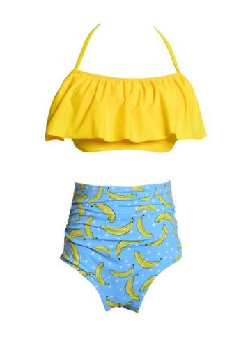 Twenty Eight Shoes yellow VANSA Ruffle Bikini Parent-child Swimsuit VCW-Sw01801A 66583USEB5DE4FGS_1