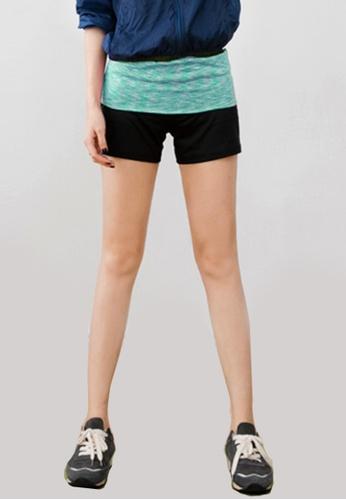 Sesura green Color Banded Sports Shorts 7BA9BAAED9DAE6GS_1