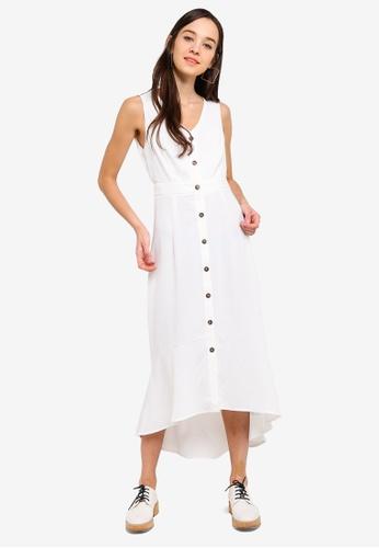 47af82b8e770 Something Borrowed white Button Down Sleeveless Midi Dress  6B045AA5AE7F75GS 1