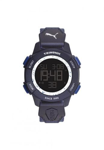 Puma blue Puma Trinomic -Blue Fabric Strap - Stainless Steel Case (PU911271004) PU440AC15QHCSG_1