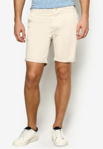 esprit官網Hayman 反折休閒短褲, 服飾, 服飾